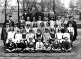 Zoom-in to a photograph of a Leith Academy Class  -  1928-29  -  A photograph by J R Coltart