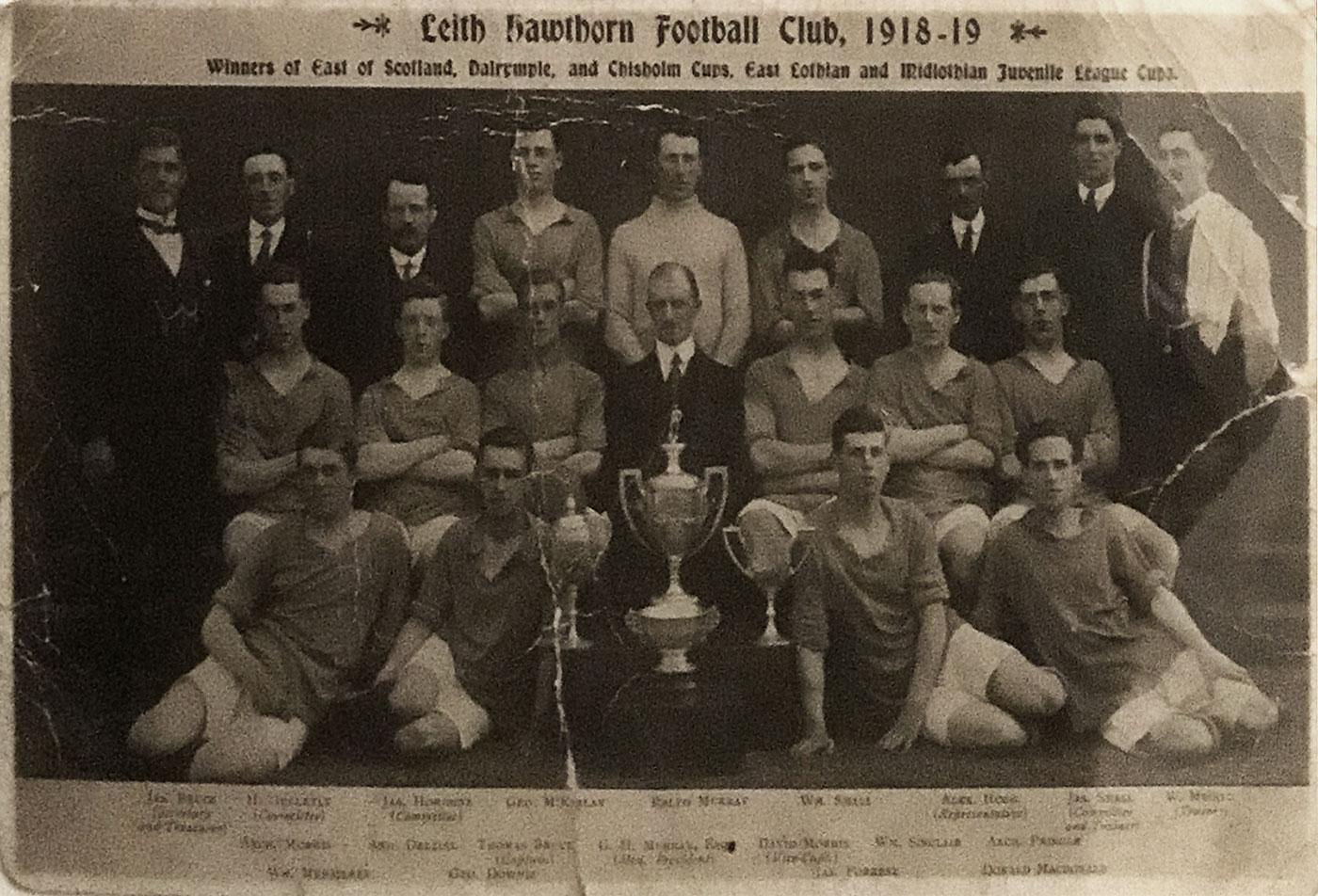 Leith Hawthorn Football Club, 1918-19