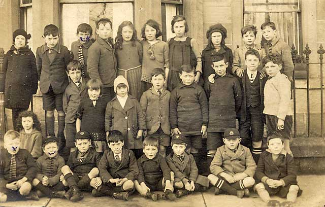 A Postcard of a School Class  -  Photograph taken possibly around Newhaven in the early 1900s