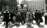 Members of the Methodist Youth Club at Granton, Edinburgh, visit tthe Albert Hall for Scottish Country Dancing  -  1950s