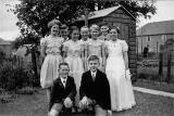 Murrayburn Primry School, Pupils dressed for the 'Qually Dance', around 1955