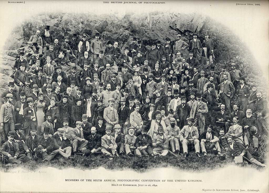 Photograph of delegates to the Photographic Convention of the United Kingdom held inEdinburgh in 1892
