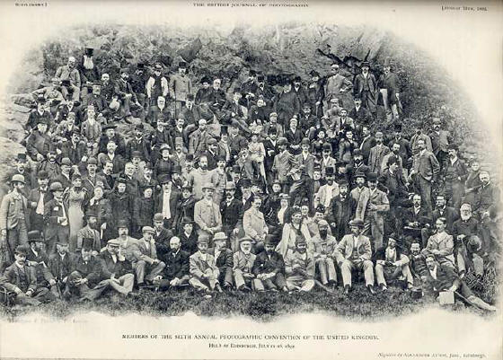 Photograph of delegates to the Photographic Convention of the United Kingdom held in Dublin in 1894