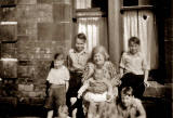 The Jones family kids and their gran, probably at Pilrig Street