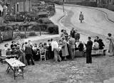 Street Party for the Queen's Coronation, June 1953 - Pilton Avenue, Edinburgh