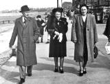 Great Aunt Aggie walks along Portobello Promenade in her fur coat in the 1950s