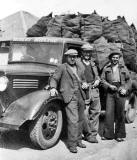 Robert Ritchie Coal Merchants  -  Three workers and a coal lorry