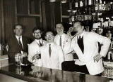 The Bar Staff at Rutherford's Bar, Edinburgh, around 1960