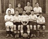 Saughtonhall Boys' Club Football Team, attached toi Saughtonhall Congregational Church.  This team won the Lothian Amateur Forsyth Cup (under 16) in 1944-45.