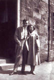 Outside 29 St Leonard's Hill  -  Willie Haddow and Jean Dalgleish  -  mid-1950s