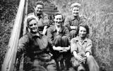 St Margaret's Railway Depot  -  Cleaners on the Steps