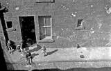 Paul Weddell and other children at Waddell Place, Leith - 1962