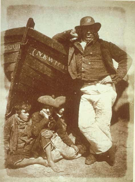Hill & Adamson Calotype - Fisherman and boys