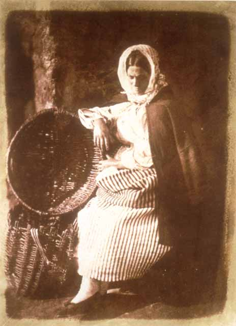 Hill & Adamson Calotypes -  Newhaven Fishwife