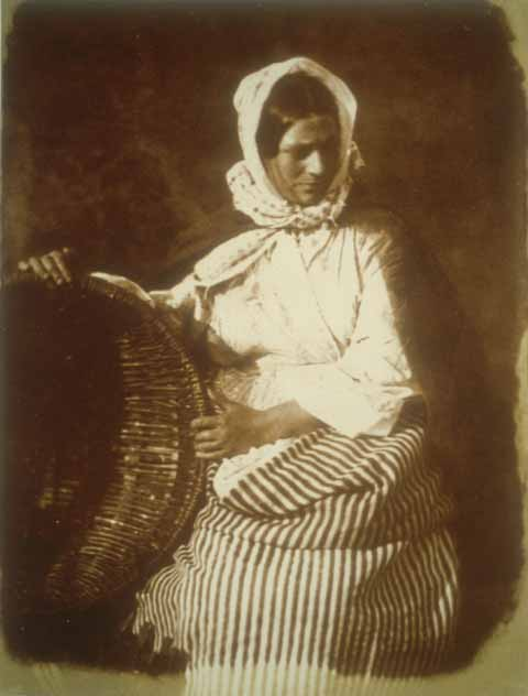 Newhaven Fishwife  -  A calotype by Hill & Adamson