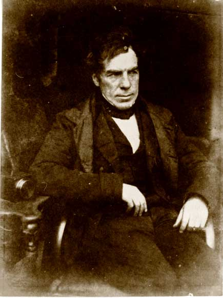 George Moir - seated  -  a Calotype photograph by Hill & Adamson