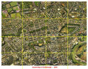 Aerial View of Edinburgh - 2001 - divided into sections