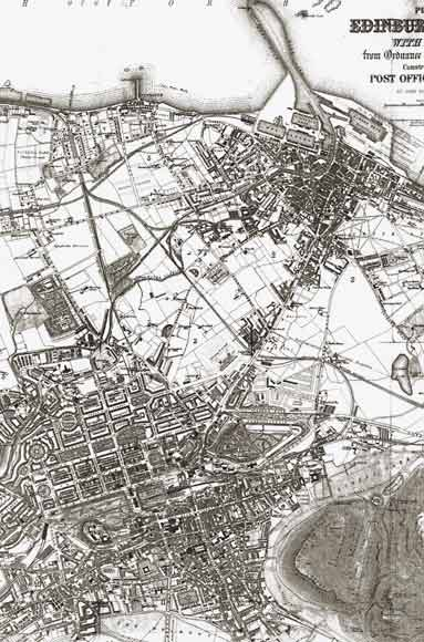 Map of Edinburgh and Leith  -  1870