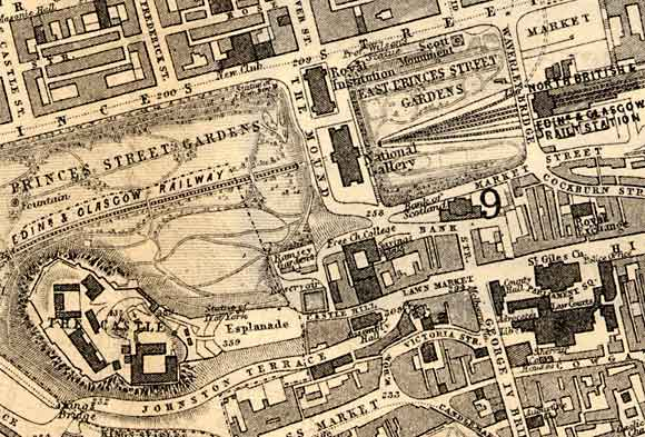 Edinburgh map 1870