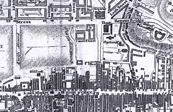 Map of Edinburgh Waverley  -  1817