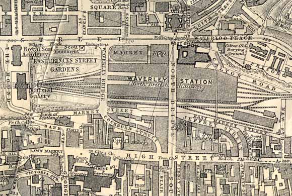 Map of Edinburgh Waverley  -  1917