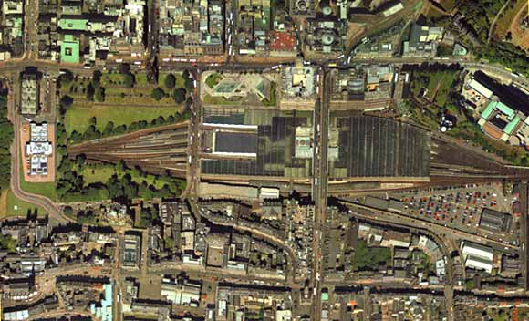 Aerial View of Edinburgh Waverley  -  2001