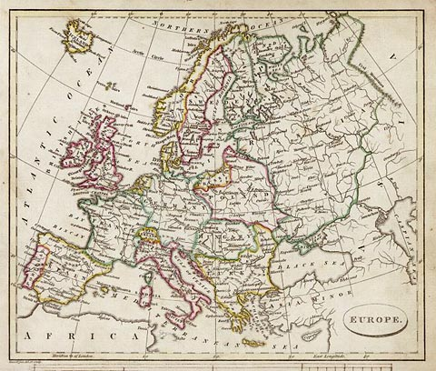 Map of Europe  -  1813