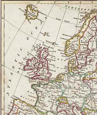 Detail from a map of Europe  -  1813