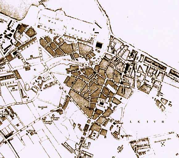 Map of Leith  -  1835