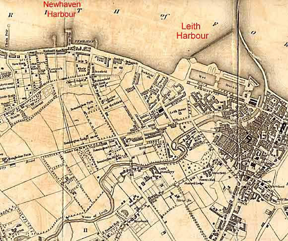 Map of Leith  -  1840