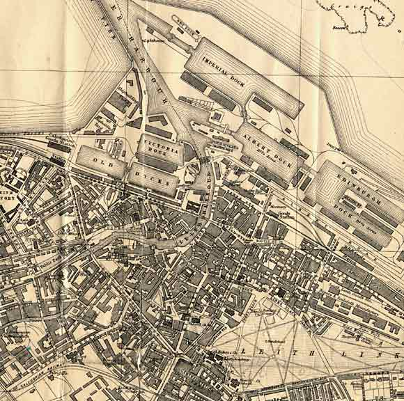 Map of Leith  -  1917