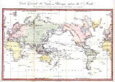 Map of the World  -  1834