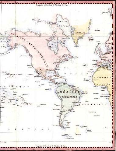 Detail from a map of the World - 1813