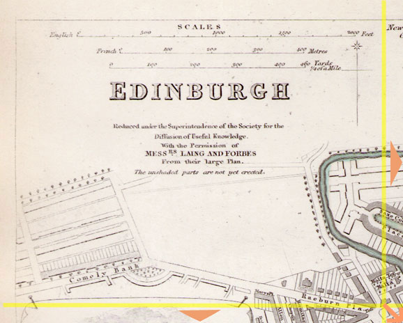 Map of Edinburgh 1844  -  Produced for the Society for the Diffusion of Useful Knowledge  -  Section A