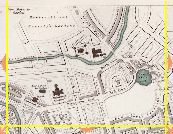 Edinburgh  -  1844  -  Map produced for the Society for the Diffusion of Useful Knowledge  -  Section B