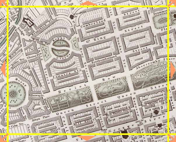 Edinburgh  -  1844  -  Map produced for the Society for the Diffusion of Useful Knowledge  -  Section F