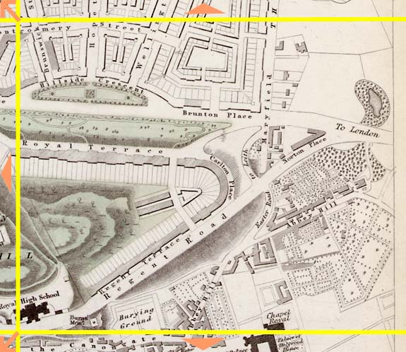 Edinburgh  -  1844  -  Map produced for the Society for the Dissemination of Useful Knowledge  -  Section H