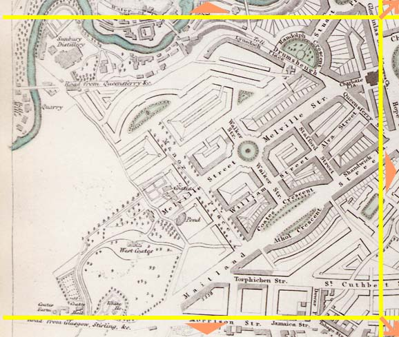 Edinburgh  -  1844  -  Map produced for the Society for the Dissemination of Useful Knowledge  -  Section I