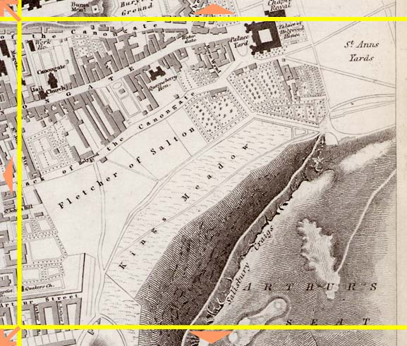 Edinburgh  -  1844  -  Map produced for the Society for the Dissemination of Useful Knowlwdge  -  Section L