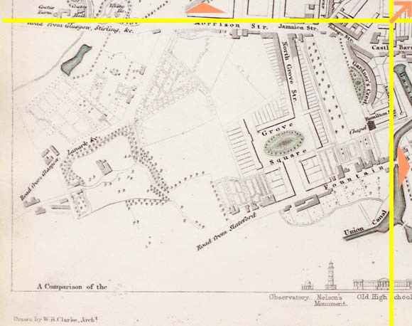Edinburgh  -  1844  -  Map produced for the Society for the Dissemination of Useful Knowledge  -  Section M