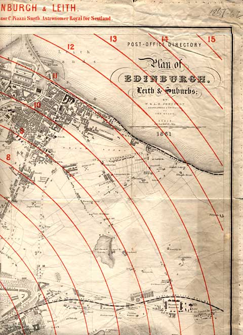 Edinburgh Time-Gun Map  -  1861  -  Section 3