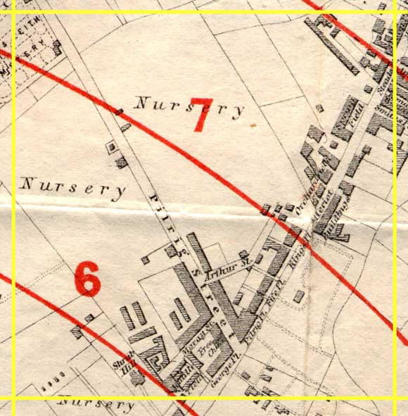 Edinburgh Time-Gun Map  -  1861  -  Section K