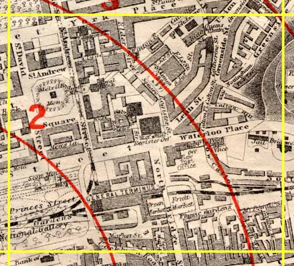 Edinburgh Tme-Gun Map  -  1861  -  Section R