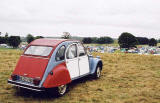Citroen 2CV in the grounds of Floors Castle, Kelso in the Scottish Borders  -  during the World 2CV Meeting held at Kelso, July 2005