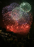 Fireworks to mark the end of the Edinburgh Festival  -  View from George Strteet, loooking towards Edinburgh Castle  -  4 September 2005