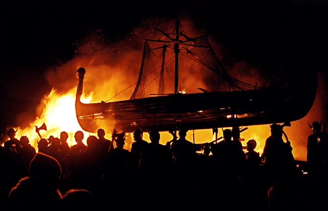 Bonfire on Calton Hill  -  29 December 2003