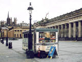 Ice Cream Stall outside the National Galleries at the foot of the Mound