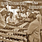 Photograph of people at work in Burton's Biscuit Factory  -  with 'Edinburgh at Work' title