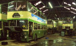 Eastern Scottish Buses in Edinburgh New Street Depot