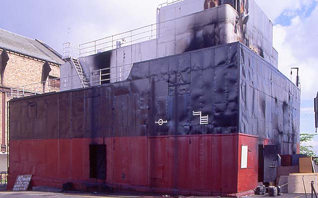 'The Ship' used by firemen for training  -   McDonald Road Fire Station  -  30 May 1995